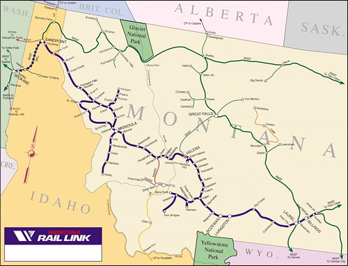 Released Montana Rail Link Landscape  NP And MILW